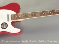 Fender American Standard Limited Edition Telecaster Dakota Red full front view