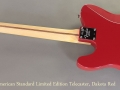 Fender American Standard Limited Edition Telecaster Dakota Red full rear view
