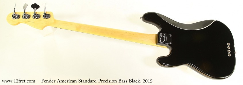 Fender American Standard Precision Bass Black, 2015 Full Rear View