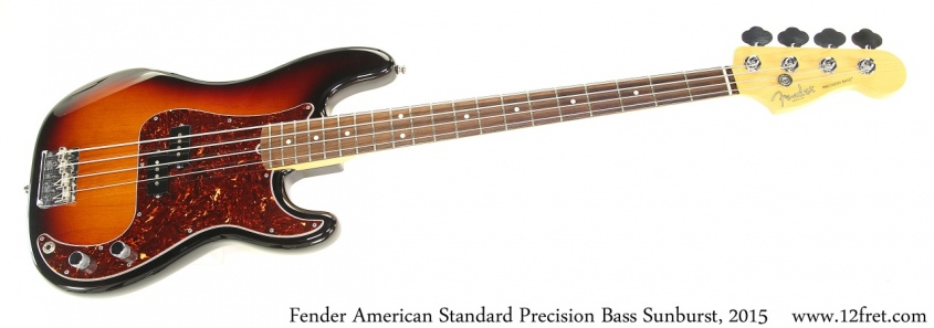 Fender American Standard Precision Bass Sunburst, 2015 Full Front View