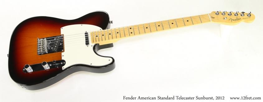Fender American Standard Telecaster Sunburst, 2012   Full Front View