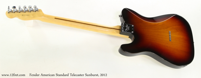Fender American Standard Telecaster Sunburst, 2012   Full Rear VIew