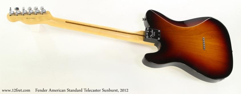 Fender American Standard Telecaster Sunburst, 2012   Full Rear VIew