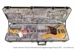 Fender American Ultra Jazz Bass Rosewood Fingerboard Aged Natural, 2019 Case Open View