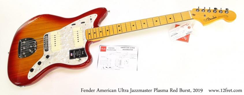 Fender American Ultra Jazzmaster Plasma Red Burst, 2019 Full Front View