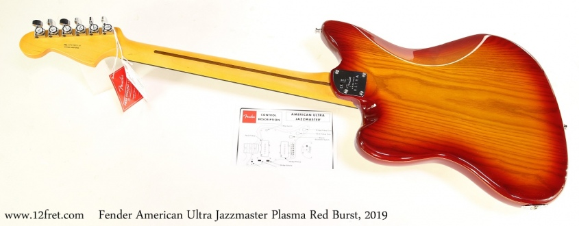 Fender American Ultra Jazzmaster Plasma Red Burst, 2019 Full Rear View