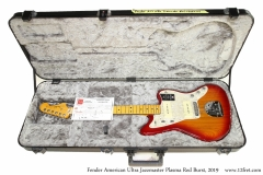 Fender American Ultra Jazzmaster Plasma Red Burst, 2019 Case Open View
