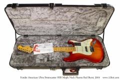 Fender American Ultra Stratocaster HSS Maple Neck Plasma Red Burst, 2019 Case Open View