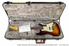 Fender American Ultra Stratocaster HSS Rosewood Ultraburst, 2019 Case Open View