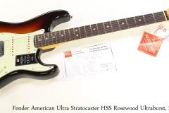 Fender American Ultra Stratocaster HSS Rosewood Ultraburst, 2019 Full Front View