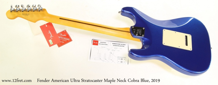 Fender American Ultra Stratocaster Maple Neck Cobra Blue, 2019 Full Rear View