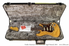Fender American Ultra Stratocaster Aged Natural, 2019 Case Open View
