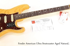 Fender American Ultra Stratocaster Aged Natural, 2019 Full Front View