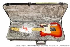 Fender American Ultra Telecaster Maple Neck Plasma Red Burst, 2019 Case Open View