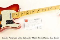 Fender American Ultra Telecaster Maple Neck Plasma Red Burst, 2019 Full Front View