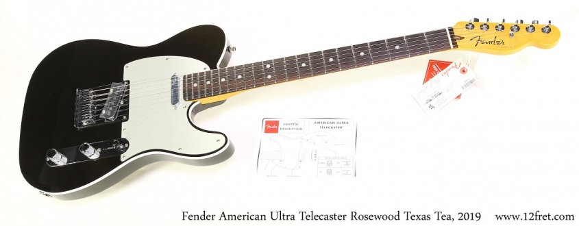 Fender American Ultra Telecaster Rosewood Texas Tea, 2019 Full Front View