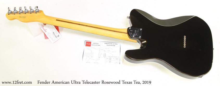 Fender American Ultra Telecaster Rosewood Texas Tea, 2019 Full Rear View