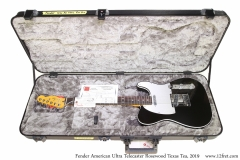 Fender American Ultra Telecaster Rosewood Texas Tea, 2019 Case Open View