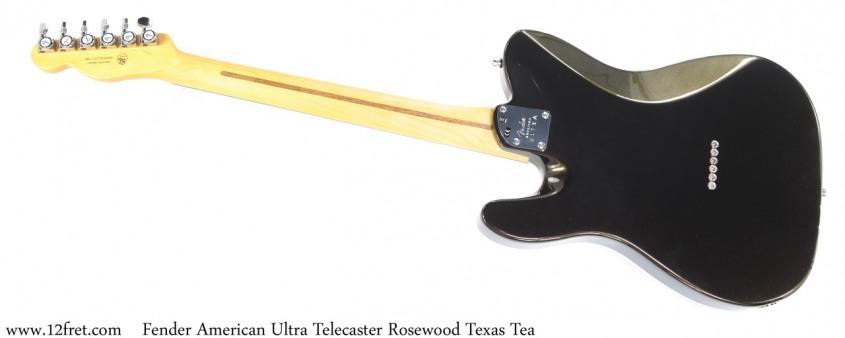 Fender American Ultra Telecaster Rosewood Texas Tea Full Rear View