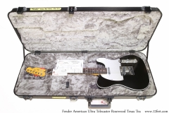 Fender American Ultra Telecaster Rosewood Texas Tea Case Open View