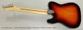 Fender American Vintage 72 Telecaster Thinline Sunburst, 2012 Full Rear View