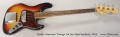 Fender American Vintage '64 Jazz Bass Sunburst, 2015 Full Front View