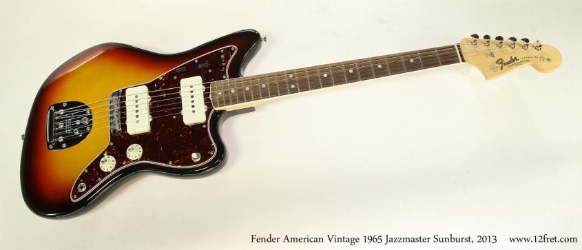 Fender American Vintage 1965 Jazzmaster Sunburst, 2013 Full Front View