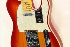 Fender American Ultra Telecaster Maple Neck Plasma Red Burst, 2019