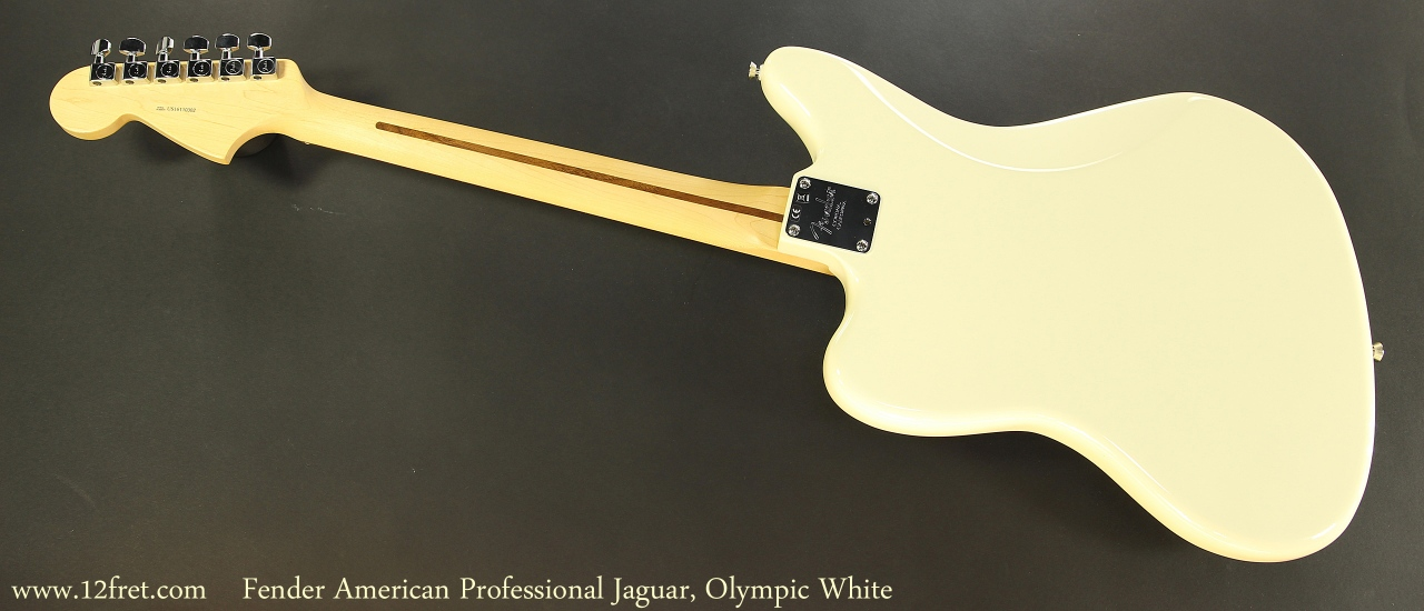 Fender American Professional Jaguar, Olympic White Full Rear View