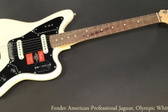 Fender American Professional Jaguar, Olympic White Full Front View