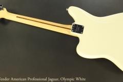 Fender American Professional Jaguar, Olympic White Full Rear View