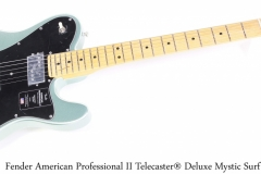 Fender American Professional II Telecaster® Deluxe Mystic Surf Green Full Front View