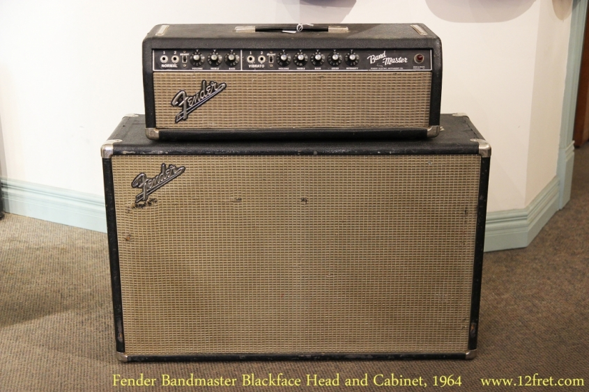 Fender Bandmaster Blackface Head and Cabinet, 1964   Full Front View