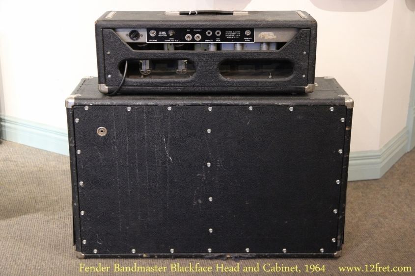 Fender Bandmaster Blackface Head and Cabinet, 1964   Full Rear View