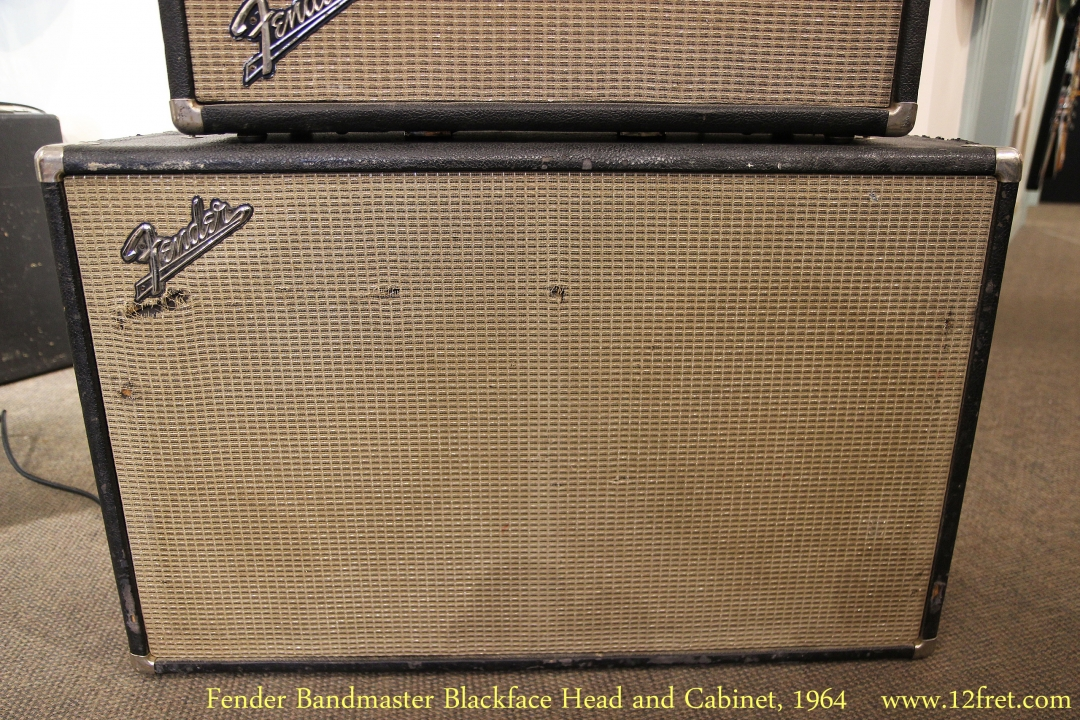 Fender Bandmaster Blackface Head and Cabinet, 1964   Cabinet Front View