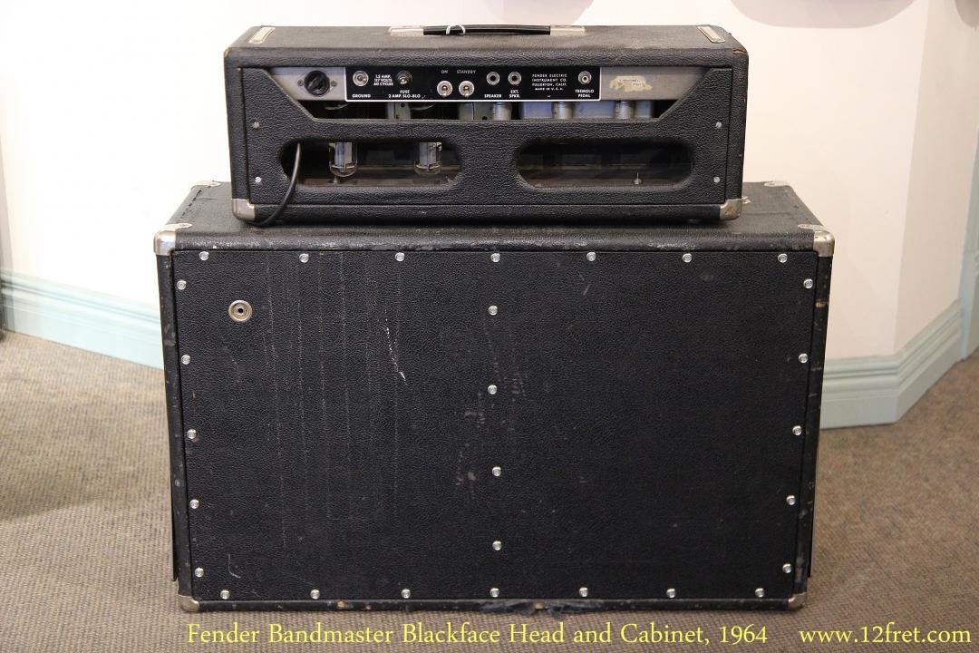 Fender Bandmaster Blackface Head and Cabinet, 1964   Full Rear View