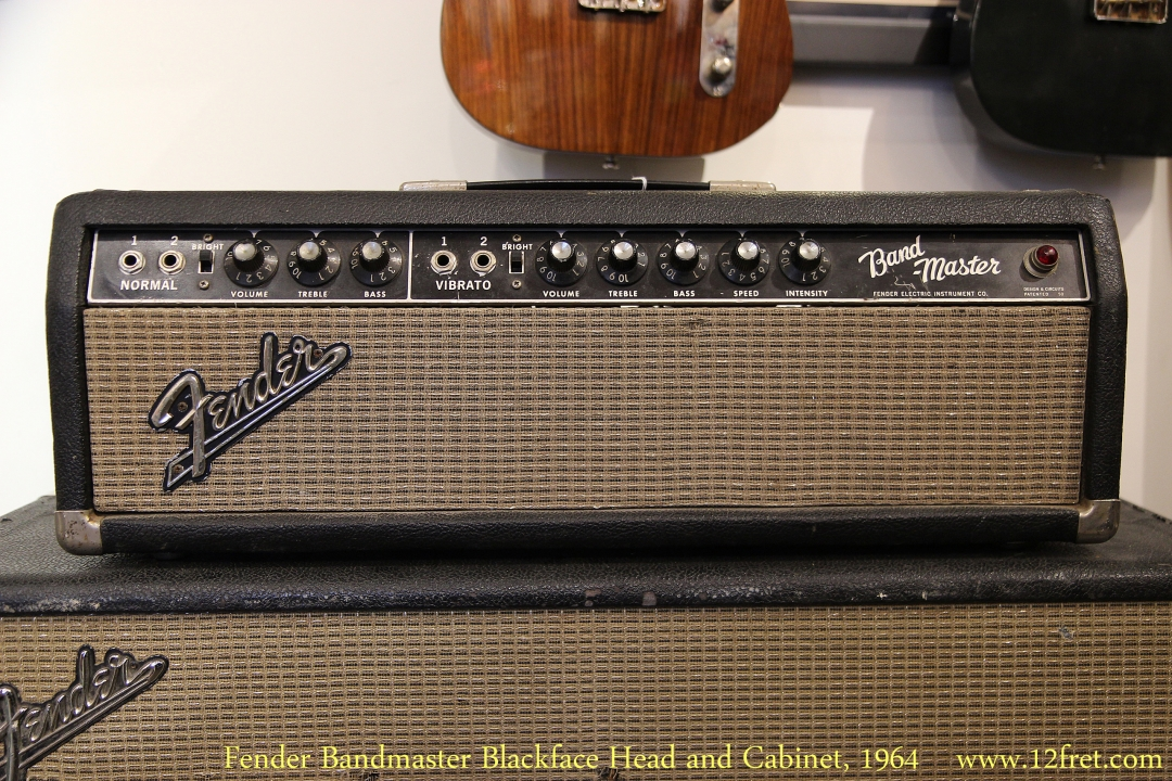Fender Bandmaster Blackface Head and Cabinet, 1964   Head Front View