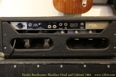 Fender Bandmaster Blackface Head and Cabinet, 1964   Head Rear Panel View