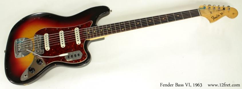 Fender Bass VI 1963 full front view
