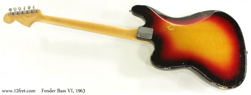 Fender Bass VI 1963 full rear view