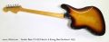 Fender Bass VI MIJ Electric 6-String Bass Sunburst 1995  Full Rear View