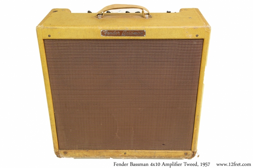 Fender Bassman 4x10 Amplifier Tweed, 1957 Full Front View
