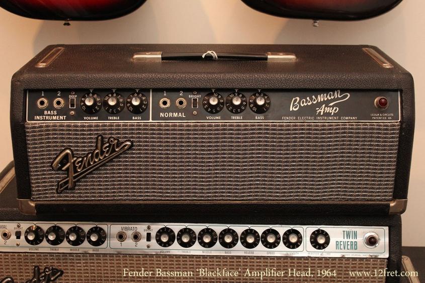 Fender Bassman 'Blackface' Amplifier Head, 1964 Full Front View