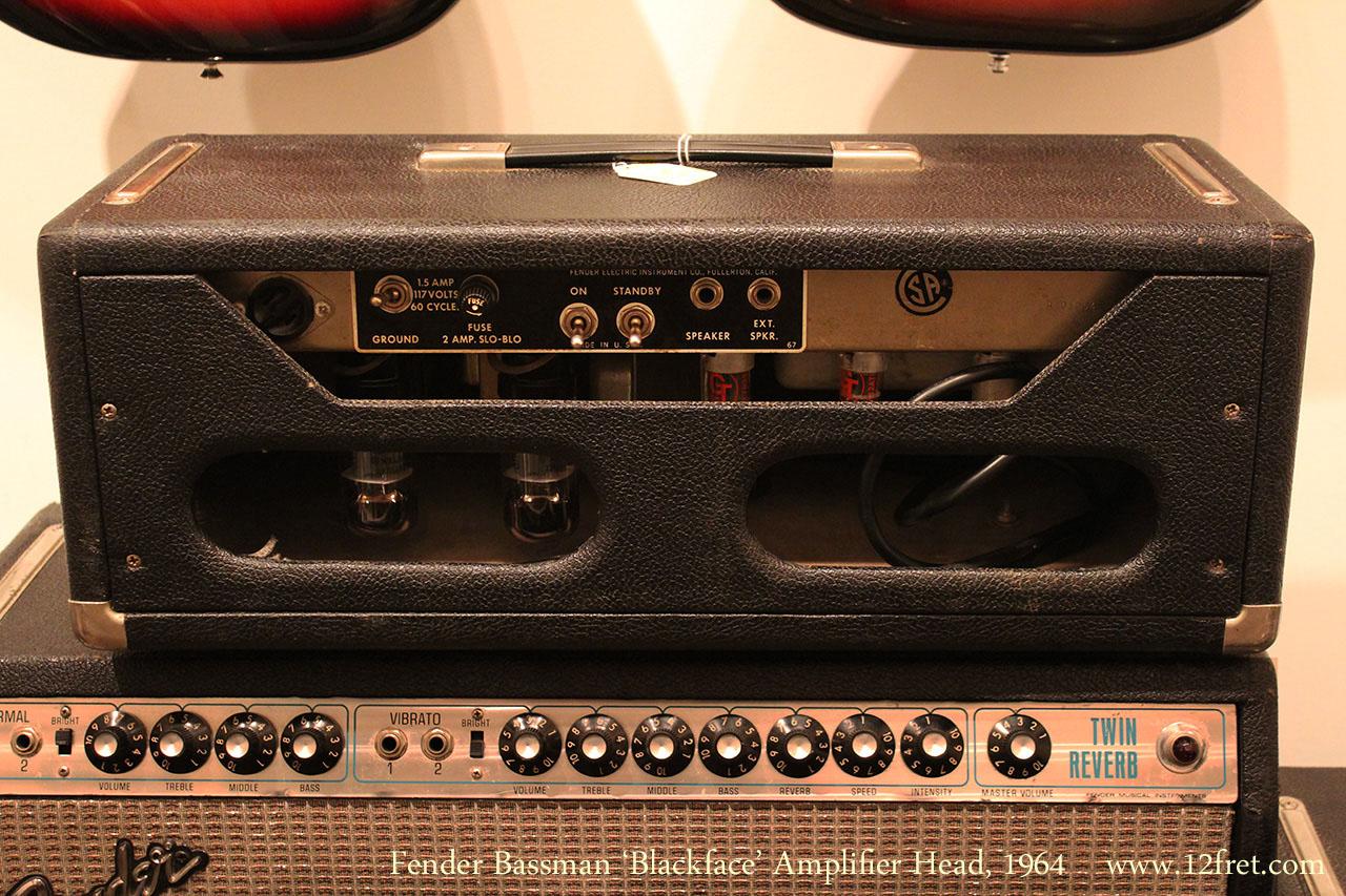 Fender Bassman 'Blackface' Amplifier Head, 1964 Full Rear View