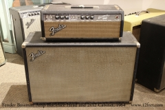 Fender Bassman Amp Blackface Head and 2x12 Cabinet, 1964   Full Front View