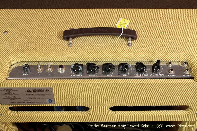 Fender Tweed 59 Bassman Reissue 1990 panel