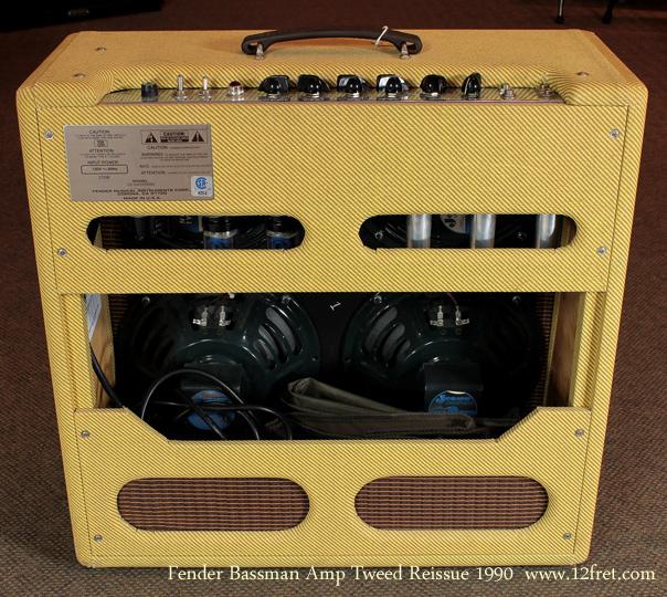 Fender Tweed 59 Bassman Reissue 1990 rear