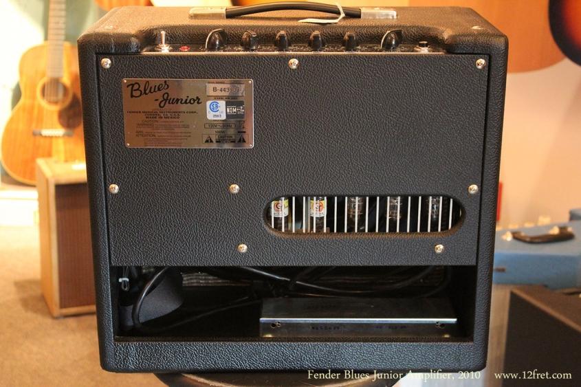 Fender Blues Junior Amplifier, 2010 Full Rear View