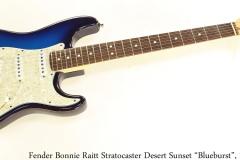 """Fender Bonnie Raitt Stratocaster Desert Sunset """"Blueburst"""", 1995 Full Front View"""