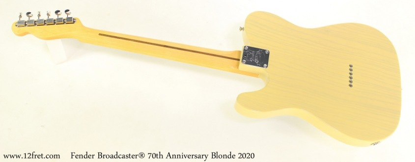 Fender Broadcaster® 70th Anniversary Blonde 2020 Full Rear View